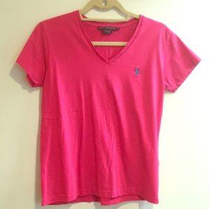 Ralph Lauren sport bright pink t shirt
